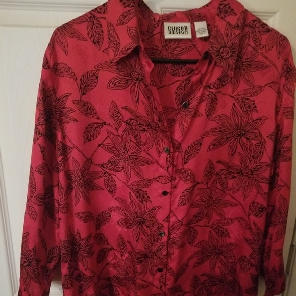 Chico's Tops - By Chico Design Silk button up blouse